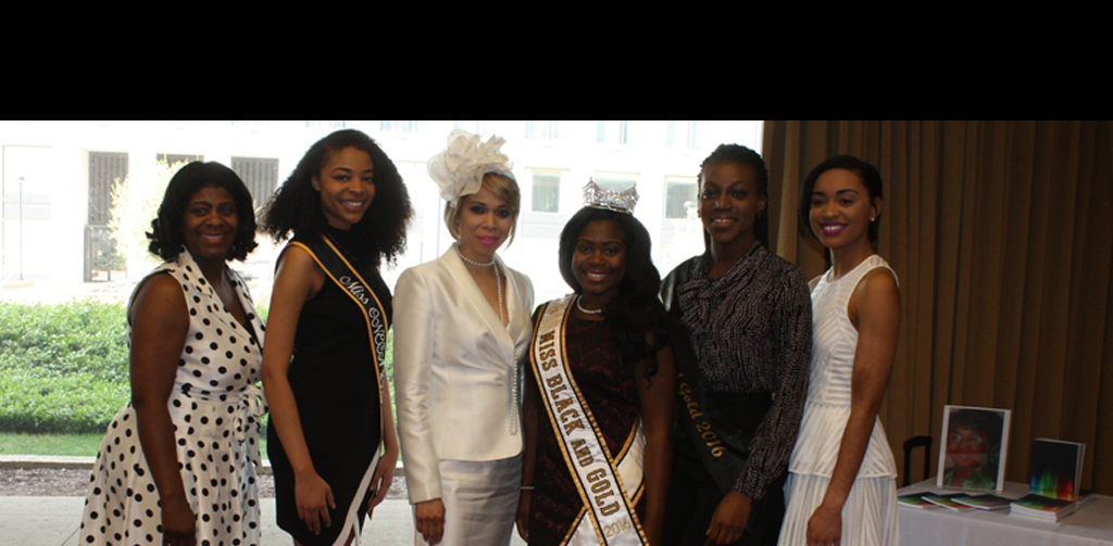 First Lady and Miss Black and Gold Contestants